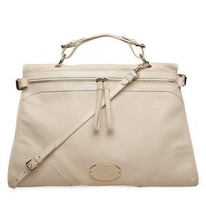 Mulberry cream leather oversized Taylor satchel